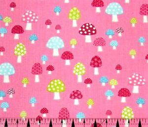 Makower UK Flo/'s Garden Mushrooms Fabric BHY
