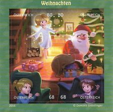Österreich Mi.Nr. Block 92** (2016) postfrisch/Comicmarken-Puzzle (Weihnachten)