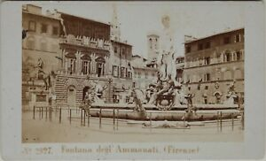 Carlo-Ponti-Florence-Fontana-Italia-CDV-Foto-Vintage-Albumina-c1860-5