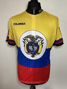 World Jerseys Colombia Team Cycling Shirt Jersey Short Sleeve L RARE