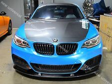 Carbon Fiber Front Lip Spoiler Splitters Type A for 2014-2016 BMW M235i F22