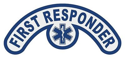 First Responder Extended Helmet Crescent Reflective Decal with Star of Life