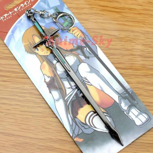 Hot Sword Art Online Metal Sword Model Keychain Key Ring Pendant Blue