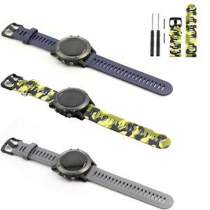 Silikon-Armband-Uhrenarmband-Ersatzband-Strap-fuer-Garmin-Fenix-3-HR-GPS-Watch