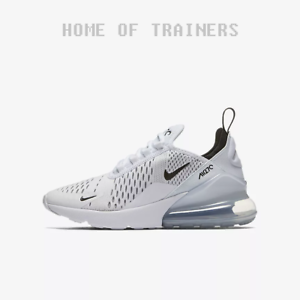 4d2fe0f64 Nike Air Max 270 White White Black Kids Boys Girls Trainers All ...
