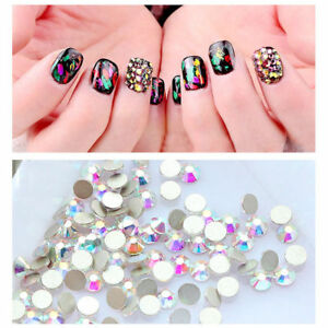Image Is Loading Flat Back Nail Art Rhinestones Glitter Diamond Gems