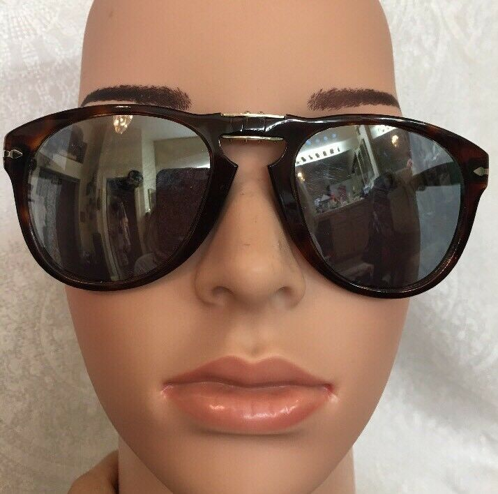 Persol Sunglasses Brown Tortoiseshell Collapsible Polarized