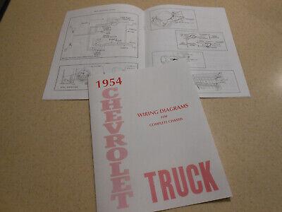 1954 chevrolet truck wiring diagram manual / '54 chevy diagrams  ebay