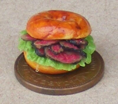 1:12 Scale 5 Hand Made Bagels Tumdee Dolls House Kitchen Bread Accessory
