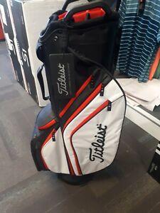 TITLEIST Cart 14 Lightweight Bag - BRAND NEW (black/white/red)
