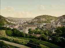 Böhmen. Karlsbad von der Bellevuestrasse aus.  PZ vintage photochromie, photochr