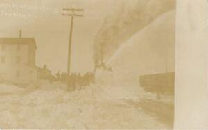 Sanborn-Minnesota-Train-Rotary-Snow-Blower-at-Work-1910-Real-Photo-Postcard-RPPC
