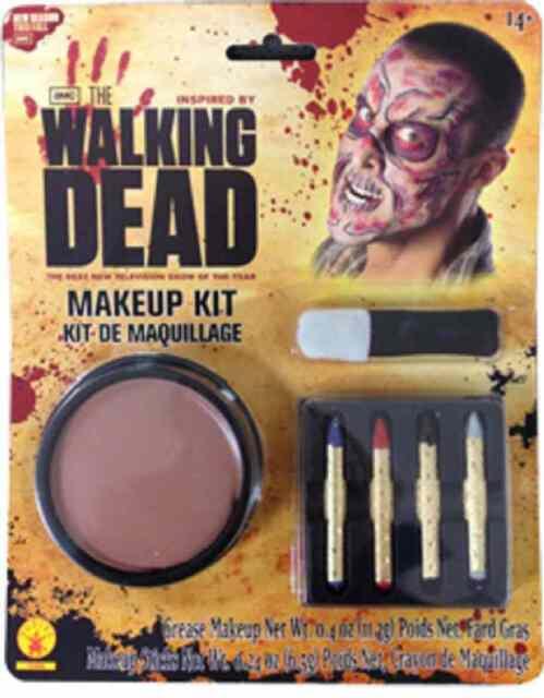 Walking Dead Makeup Kit Zombie Undead Fancy Dress Halloween Costume Accessory