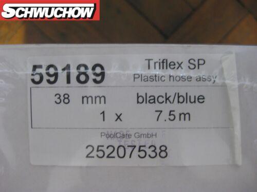 Saugschlauch drehbar Rowin TRIFLEX 38mm schwarz blau 7,5m Pool Teich Schlauch