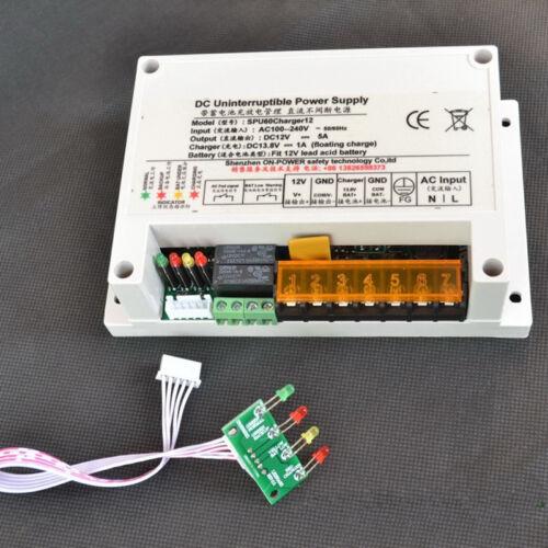 UPS Backup Uninterruptible Power Supply AC 110V-240V to DC 12V 5A DC13.8V 1A