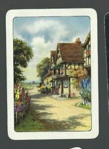 Swap-Playing-Cards-1-WIDE-VINT-ENG-VILLAGE-PUB-amp-AWESOME-GARDEN-EW204-MINT