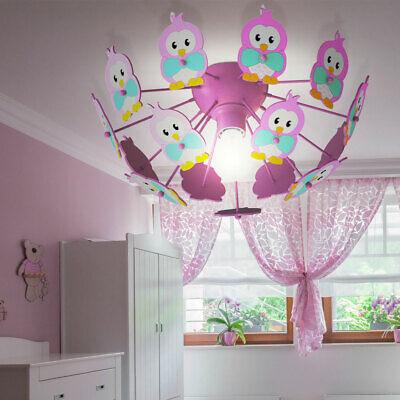 Design LED Holz Eulen Decken Strahler Leuchte Baby Kinder Zimmer Beleuchtung