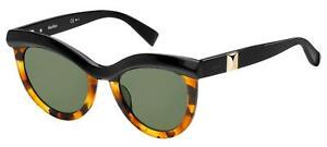 Max Mara MM GRACE Black Orange Havana/Green 51/22/140 women Sunglasses