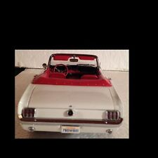 1964 1/2 Mustang Convertible White Rare 1:18 Ertl American Muscle 32400