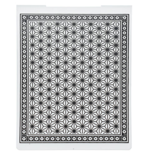 Plastic Embossing Folder Geometric DIY Craft Scrapbooking Template Album Card