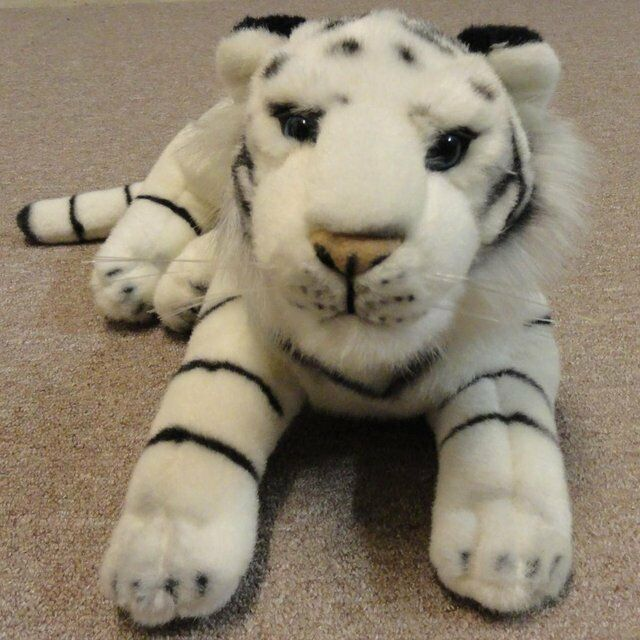 Large White Collectors Tiger Cuddly Toy 65cm 25.5 inches Retired
