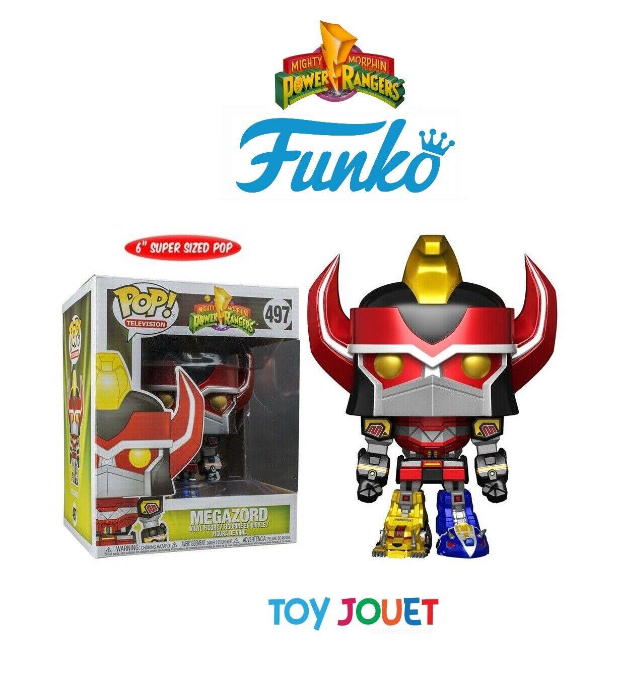 FUNKO POP GRAND 497 MEGAZORD METALLIC Power Rangers Mighty Morphin