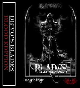 1-deck-De-039-vo-BLADES-Blood-Edition-Playing-Cards-Rare-Limited-Edition