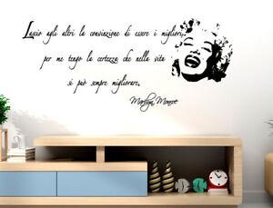 Adesivi Murali Frasi Marilyn Adesive Da Muro Decorazioni Per Parete