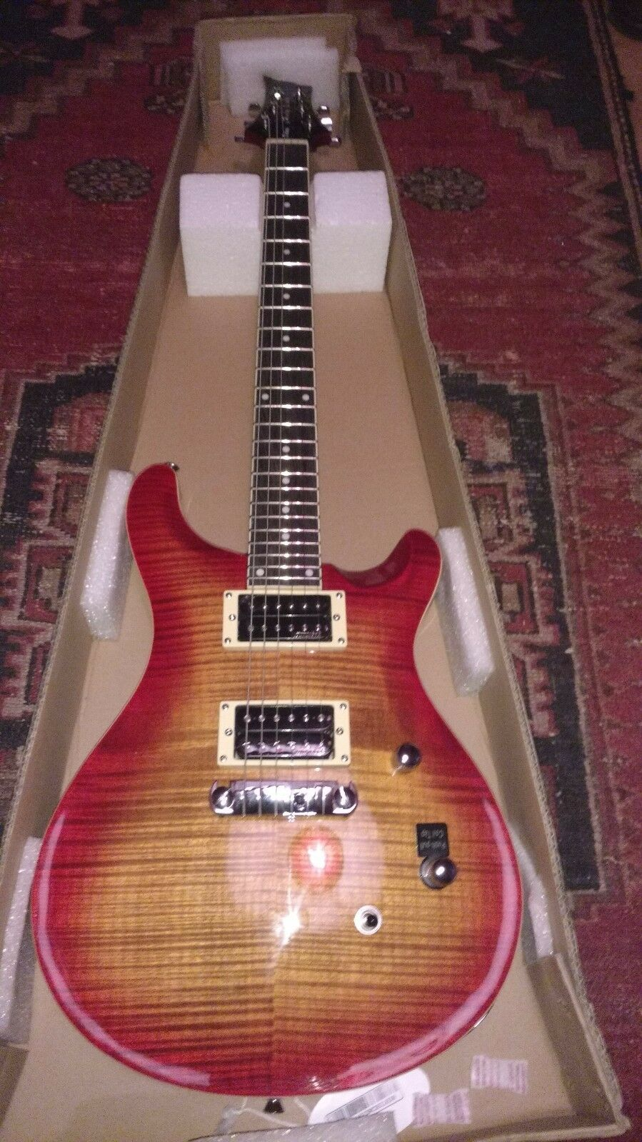 Electric Guitar AAAA flamed maple top wilkinson pickups
