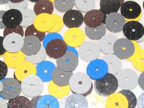 Lego ® Lot x10 Plaque Ronde Trouée Plate Round 4x4 Choose Color 60474 NEW
