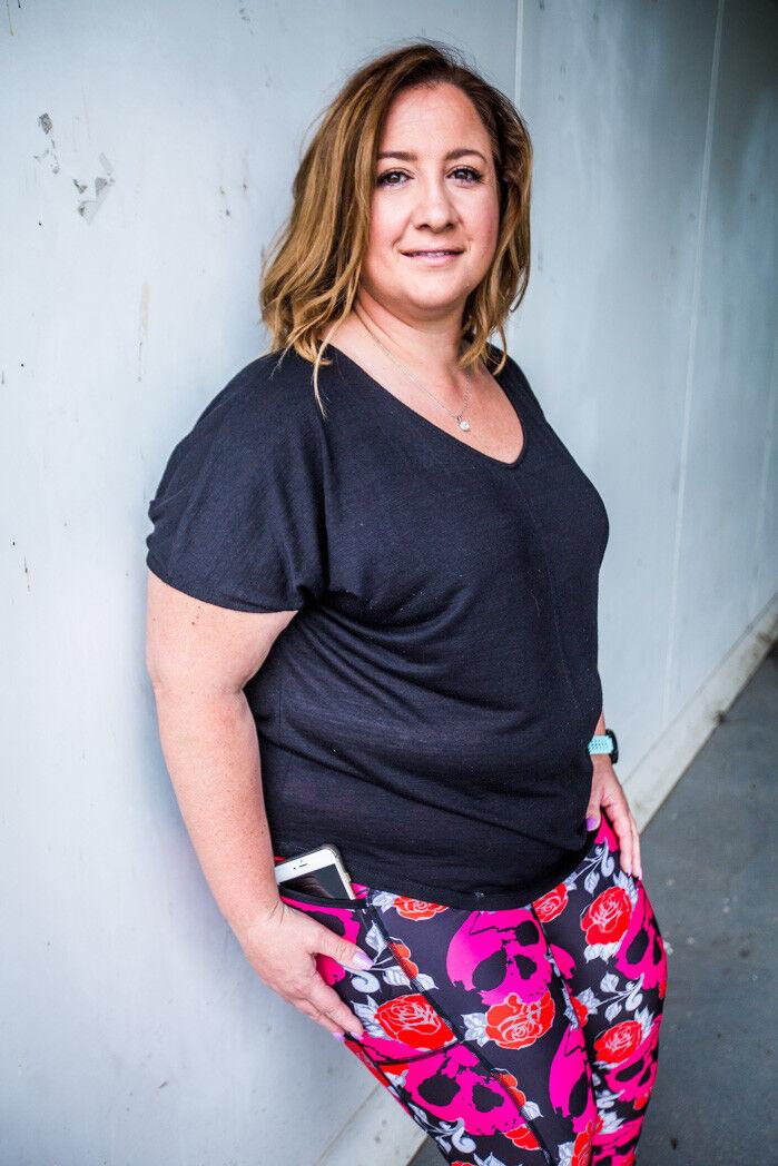 PINK SKULLS Plus Size, Size inclusive activewear, leggings for curvy ladies
