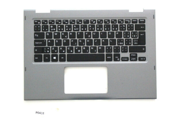 New Dell Inspiron 5368 Palm Rest Czech Slovakian Backlit Keyboard JCHV0 #418