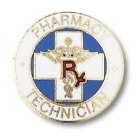 Pharmacy Technician Lapel Pin Rx Caduceus Drug Tech Prestige Medical Emblem