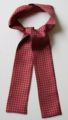 """Leale Rosso & Color Foglia Di Tè Blu Seta Foulard Da Collo 42"""" X 2.5"""" Hand Made-mostra Il Titolo Originale Colore Veloce"""