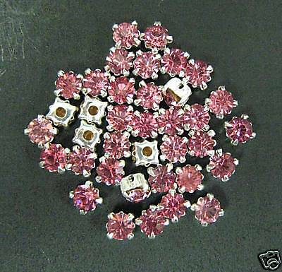 Real Rhinestone w// metal cup presetting sew on craft glass stone button 5mm 1gr