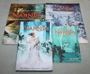 Lot-of-4-Narnia-books-complete-set-of-7-Guide-to-Narnia-2-movie-C-S-Lewis