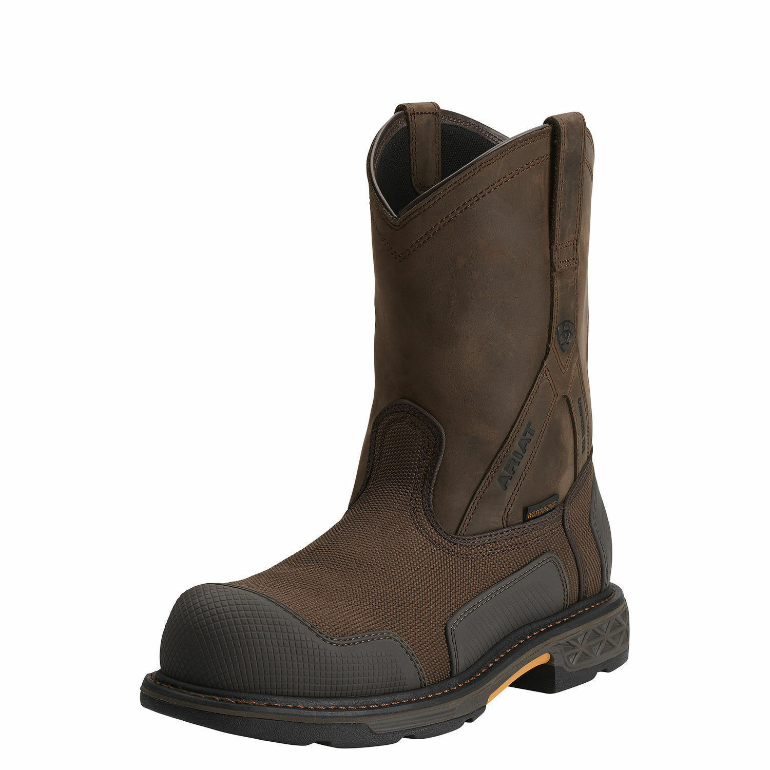 Ariat 10012942 Overdrive Xtr H2O Safety Toe 10  Pull On Non Slip Wellington Boot