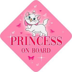 No-Personalizado-Princesa-a-bordo-Nino-Bebe-A-Bordo-Coche-Firmar-Aristogatos
