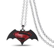 Hip Hop Batman vs Superman Dawn of Justice Necklace Pendant Chain Jewelry