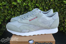 REEBOK CLASSIC NYLON ARCH SZ 9.5 CLOUD GREY WHITE CANYON RED BD3075
