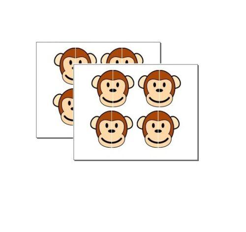 MONKEY FACE LEFT RIGHT KIDS SHOE TRAINER INSERT SOLE LOGO STICKER VINYL MON105