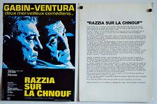 RAZZIA SUR LA CHNOUFF-1955-DECOIN-GABIN-VENTURA-DOSSIER DE PRESSE