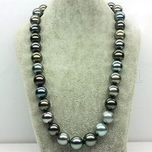 Huge-12mm-Genuine-Multicolor-South-Sea-Shell-Pearl-Round-Beads-Necklace-18-039-039-AAA