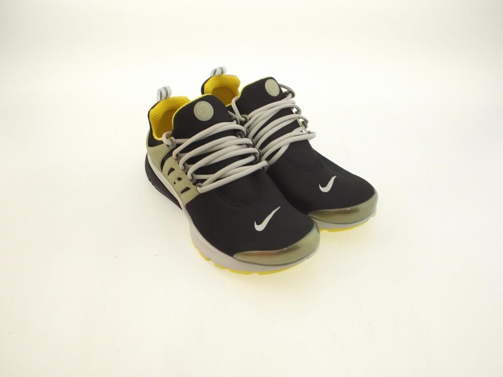 Nike air presto - männer schwarz - gelben streifen ntrl grau