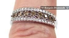 cocoa cognac brown diamond .50 carats 10k gold bridal ring anniversary love band