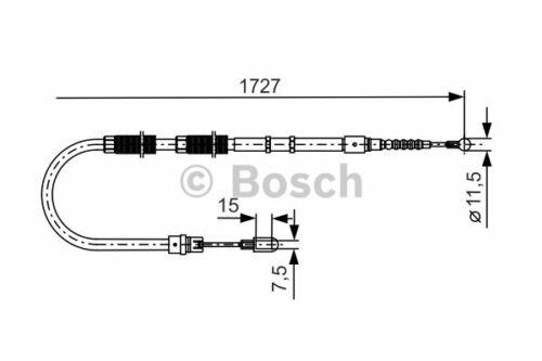 1 Seilzug Feststellbremse BOSCH 1 987 477 259 passend für AUDI VW