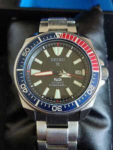 Seiko Prospex Pepsi Diver Herren Uhr Automatic Automatik Samurai Padi SRPB99K1