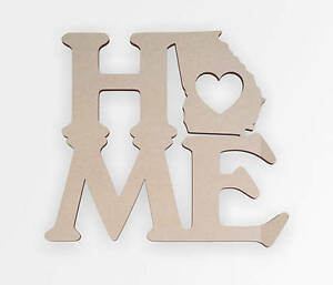 "Wooden Sign ""Home Georgia"" - Wall hanging, Cutout, Wall Decor, Home Decor"