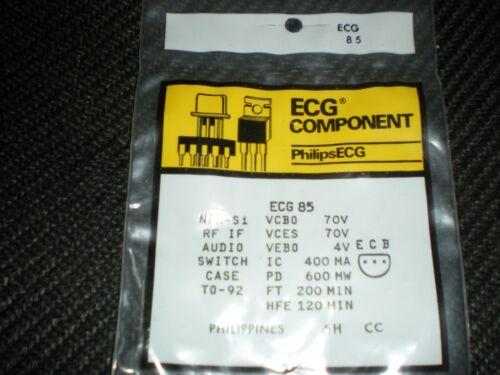 ECG85 NPN TRANSISTOR TO-92 REPL NTE85