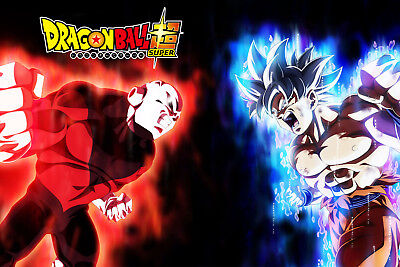 Dragon Ball Super Poster Goku Ultra Instinct VS Jiren Logo 12inx18in $0 Shipping